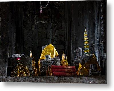 Shrine At Angkor Wat Metal Print