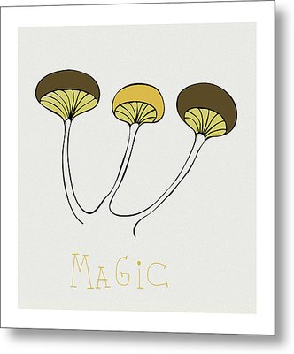 Metal Print featuring the drawing Shroom by Frank Tschakert