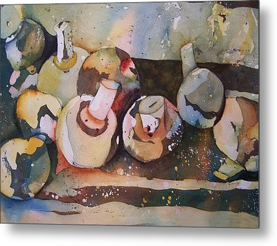 Shrooms Metal Print by Sandy Collier