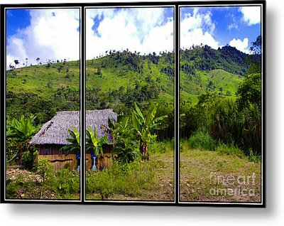 Metal Print featuring the photograph Shuar Hut In The Amazon by Al Bourassa