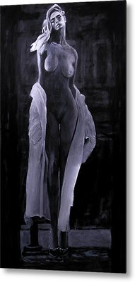 Metal Print featuring the painting Shudder Before The Beautiful by Jarko Aka Lui Grande