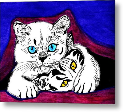 Shush Don't Tell Metal Print by Connie Valasco