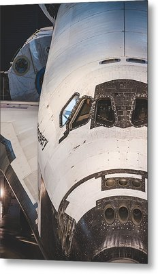 Shuttle Close Up Metal Print by David Collins