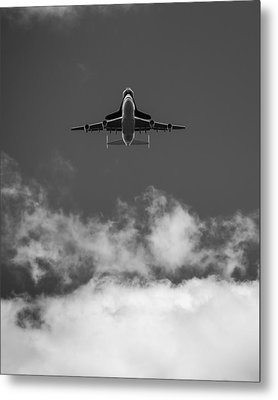 Shuttle Enterprise In Black And White Metal Print by Anthony S Torres