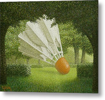 Shuttlecock Metal Print by John Gilluly