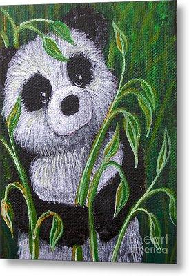Shy Panda Painting By Susan Clausen