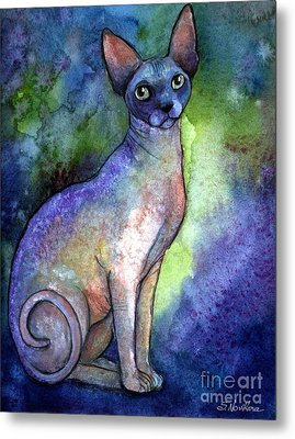 Shynx Cat 2 Painting Metal Print by Svetlana Novikova