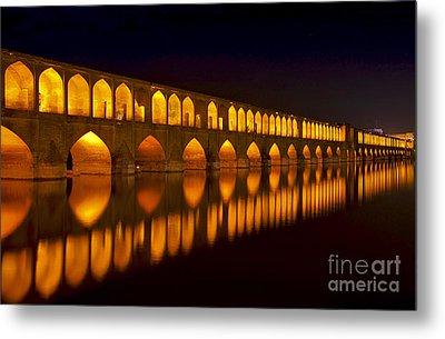 Si O Seh Pol Bridge - Isfahan - Iran Metal Print