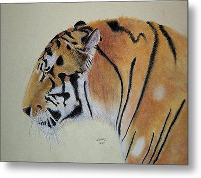 Siberian Tiger Metal Print by Joanne Giesbrecht