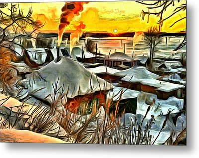 Siberian Winter Metal Print