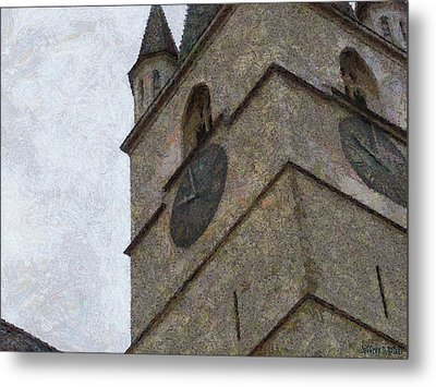 Sibiu Clock Tower Metal Print by Jeffrey Kolker