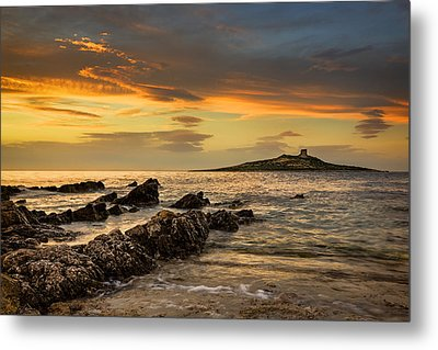 Sicilian Sunset Isola Delle Femmine Metal Print by Ian Good