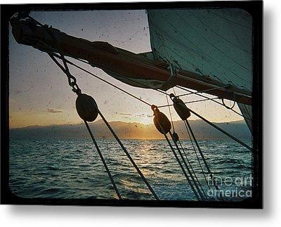 Sicily Sunset Sailing Solwaymaid Metal Print by Dustin K Ryan