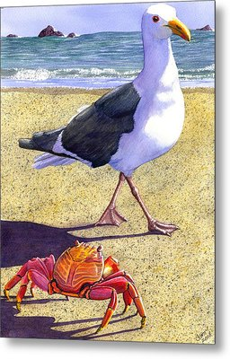 Side Stepping Metal Print