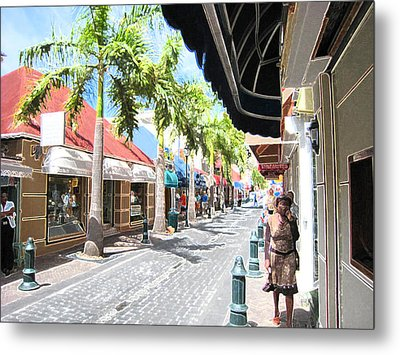 Metal Print featuring the photograph Side Street by Michael Albright
