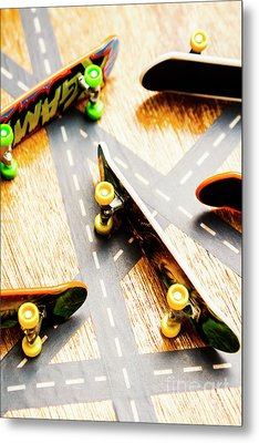 Side Streets Of Skate Metal Print
