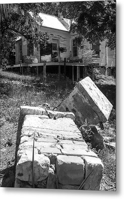 Side View Of Abandoned Metal Print by Kendall Tabor