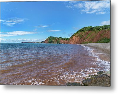 Metal Print featuring the photograph Sidmouth Jurassic Coast by Scott Carruthers