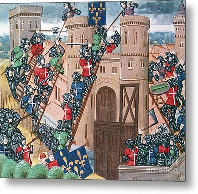 Siege Of Pontaudemer, Illustration Metal Print by Science Photo Library