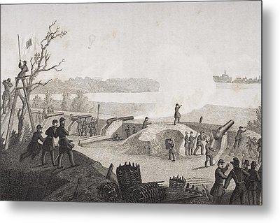 Siege Of Yorktown Virginia 1862. Drawn Metal Print