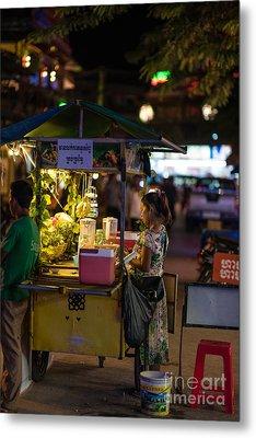 Siem Reap Fruit Stand Metal Print