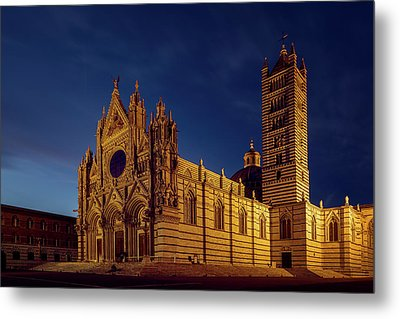 Siena Italy Cathedral Metal Print by Joan Carroll