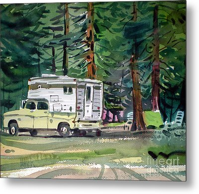 Sierra Campsite Metal Print by Donald Maier