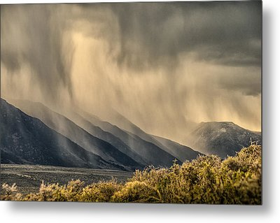 Sierra Storm From Panum Crater Metal Print by Janis Knight