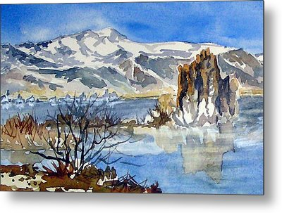 Metal Print featuring the painting Sierra View by Pat Crowther