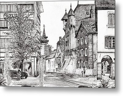 Sierre, Switzerland Metal Print by Vincent Alexander Booth