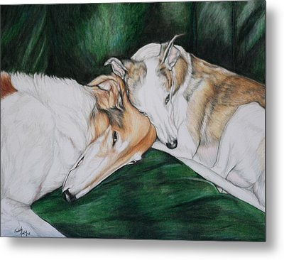 Sighthound Comfort Metal Print