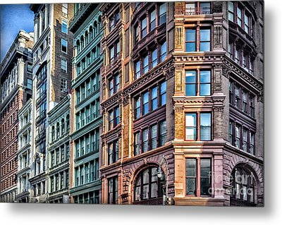 Metal Print featuring the photograph Sights In New York City - Colorful Buildings by Walt Foegelle