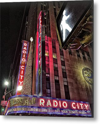 Metal Print featuring the photograph Sights In New York City - Radio City by Walt Foegelle