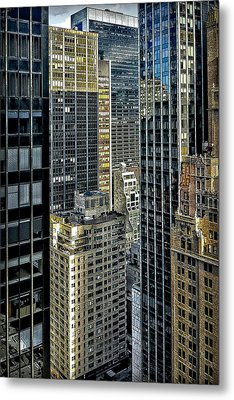 Metal Print featuring the photograph Sights In New York City - Skyscrapers Shot From Skyscraper by Walt Foegelle