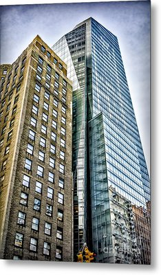 Metal Print featuring the photograph Sights In New York City - Skyscrapers by Walt Foegelle