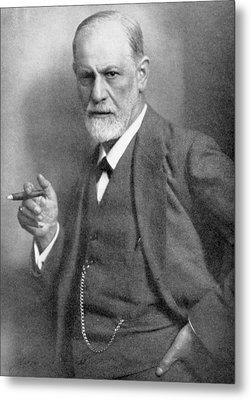 Sigmund Freud Metal Print by English School