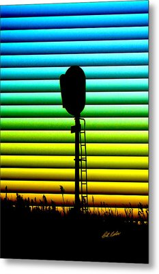Signal At Dusk Metal Print by Bill Kesler