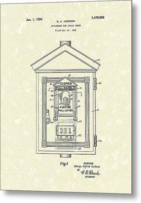 Signal Box 1924 Patent Art Metal Print by Prior Art Design