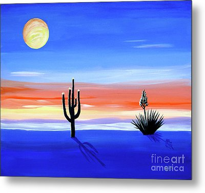 Metal Print featuring the painting Silellnt Shadows by Phyllis Kaltenbach