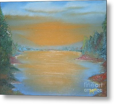 Metal Print featuring the painting Silence by Barbara Hayes