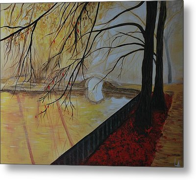 Metal Print featuring the painting Silence by Leslie Allen