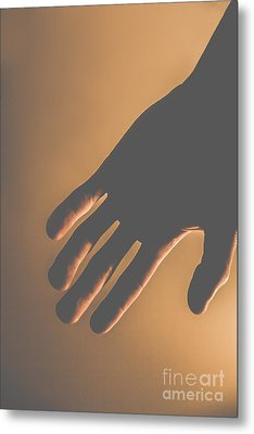Silence Of The Hands Metal Print