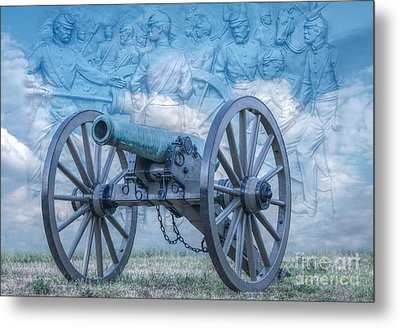 Silent Cannon Gettysburg Version 2 Metal Print by Randy Steele