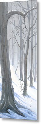 Metal Print featuring the painting Silent Forest  by Margit Sampogna