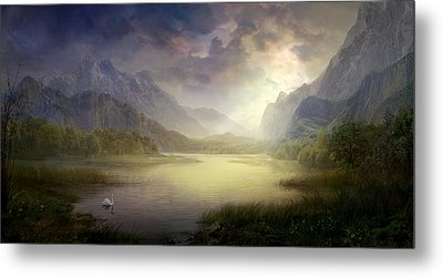 Silent Morning Metal Print by Philip Straub