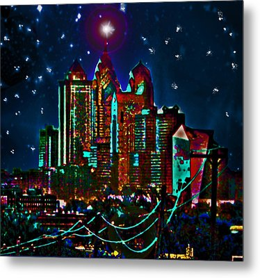 Silent Night Philly Night Metal Print by Jonathan Shaps