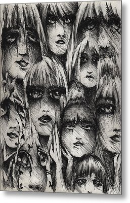 Silent Screams Metal Print by Rachel Christine Nowicki