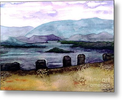 Metal Print featuring the painting Silent Sentinels by Patricia Griffin Brett