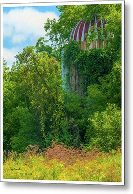 Silent Silo On Nottleson Road Metal Print by Trey Foerster
