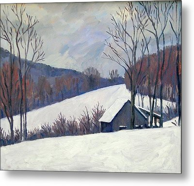 Silent Snow Berkshires Metal Print by Thor Wickstrom